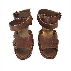 John Fluevog Summertime Rainbow Platform Sandals 9